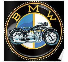 Vintage BMW motorcycles Poster