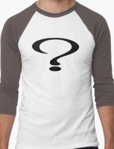 Too Many Questions Men's Baseball ¾ T-Shirt