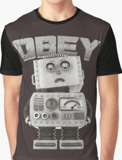 Obey The Robot Graphic T-Shirt