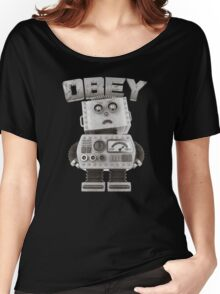 Obey The Robot Women's Relaxed Fit T-Shirt