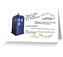 12th Doctor quotes Greeting Card