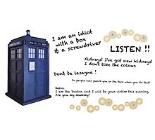 12th Doctor quotes Photographic Print