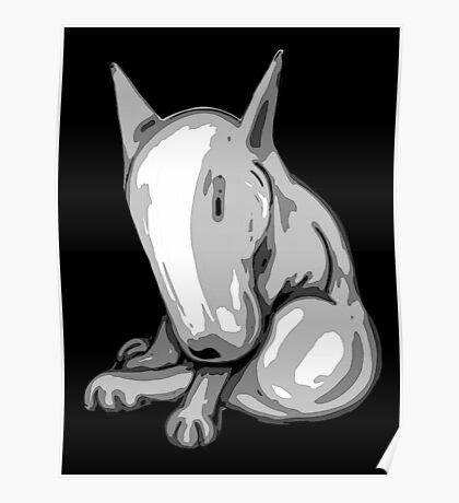 Bashful English Bull Terrier Poster