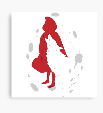 once upon a time: red riding hood Canvas Print