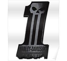 Dark Custom Harley Davidson No 1 Poster
