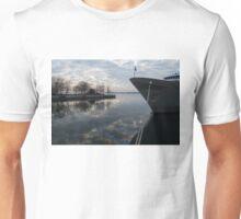 Serene Morning at the Harbor Unisex T-Shirt