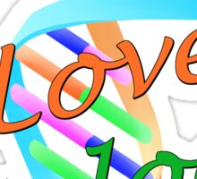 I Love Biology Sticker