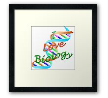 I Love Biology Framed Print