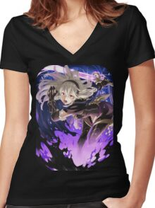 Fire Emblem Fates - Corrin (Dark Blood) Women's Fitted V-Neck T-Shirt