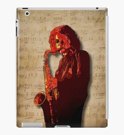 SaxMan Hits the Sheets iPad Case/Skin