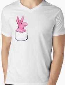 (White) Pocket o' Nug Mens V-Neck T-Shirt
