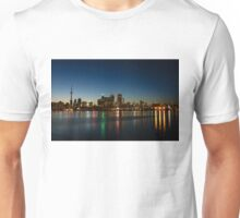 Blue Hour - Toronto's Dazzling Skyline Reflecting in Lake Ontario Unisex T-Shirt