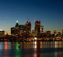 Blue Hour - Toronto's Dazzling Skyline Reflecting in Lake Ontario Sticker
