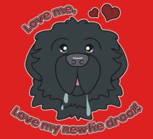 Love My Newfie Drool - Gray Grey Newfoundland Kids Tee