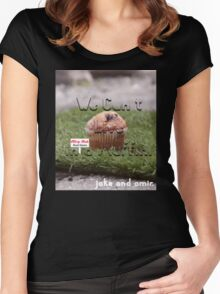 Jake and Amir - We CAN'T LIVE IN A MUFFIN Women's Fitted Scoop T-Shirt