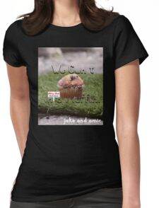 Jake and Amir - We CAN'T LIVE IN A MUFFIN Womens Fitted T-Shirt