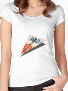 MAD Paper Airplane 147 Women's Fitted Scoop T-Shirt