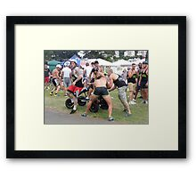 Torquay Pedal Care race Framed Print