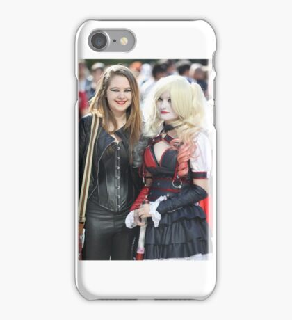 Comic con girls! Catwoman and Harley Quinn iPhone Case/Skin