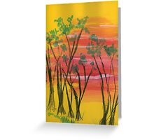 sunset trail  Greeting Card