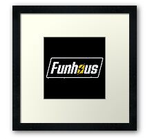 Fallout 4 | Funhous | Logo | Black Background | High Quality! Framed Print