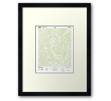 USGS TOPO Map Alabama AL Red Level 20110926 TM Framed Print