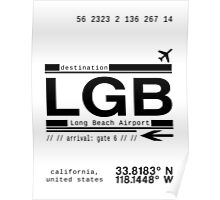 LGB Long Beach California Airport Poster