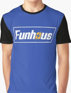 Funhous | Logo | Blue Background | High Quality! Graphic T-Shirt