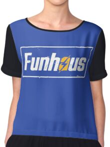 Funhous | Logo | Blue Background | High Quality! Chiffon Top