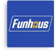 Funhous | Logo | Blue Background | High Quality! Canvas Print