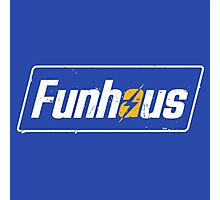 Funhous | Logo | Blue Background | High Quality! Photographic Print