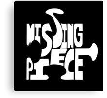 missing piece - white Canvas Print