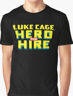 Luke Cage: Hero For Hire - Classic Title - Clean Graphic T-Shirt