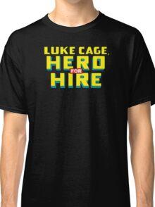 Luke Cage: Hero For Hire - Classic Title - Clean Classic T-Shirt