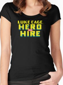 Luke Cage: Hero For Hire - Classic Title - Clean Women's Fitted Scoop T-Shirt