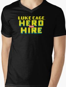 Luke Cage: Hero For Hire - Classic Title - Clean Mens V-Neck T-Shirt
