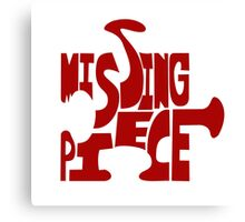 missing piece - red Canvas Print