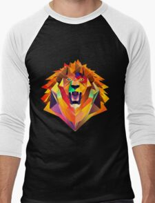 Lion Head Men's Baseball ¾ T-Shirt