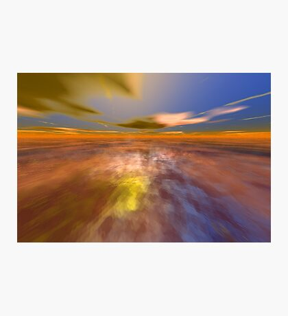 HYPERION WORLD /ALIEN SEASCAPE SKY AND CLOUDS  Sci-Fi Photographic Print