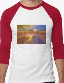 HYPERION WORLD /ALIEN SEASCAPE SKY AND CLOUDS  Sci-Fi Men's Baseball ¾ T-Shirt
