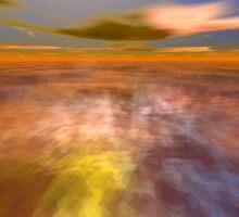 HYPERION WORLD /ALIEN SEASCAPE SKY AND CLOUDS  Sci-Fi Sticker