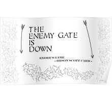 The enemy's gate is down Ender's game Poster