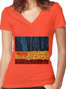 Carrigtwohill Wall, Cork Women's Fitted V-Neck T-Shirt
