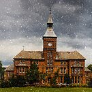 Coney hill hospital in the snow by Jeff  Wilson