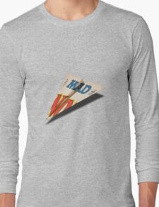 MAD Paper Airplane 147 Pattern Long Sleeve T-Shirt