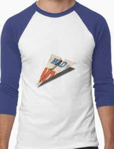 MAD Paper Airplane 147 Pattern Men's Baseball ¾ T-Shirt