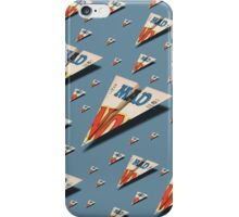 MAD Paper Airplane 147 Pattern iPhone Case/Skin