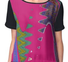 Wave Pink Women's Chiffon Top