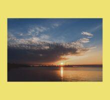Brilliant Toronto Skyline Sunrise Over Lake Ontario Baby Tee