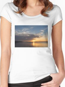 Brilliant Toronto Skyline Sunrise Over Lake Ontario Women's Fitted Scoop T-Shirt